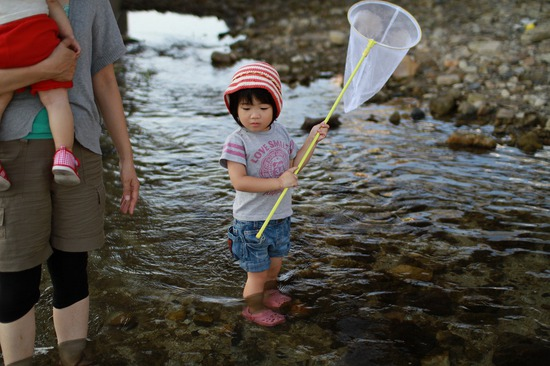 魚を捕まえたい京那