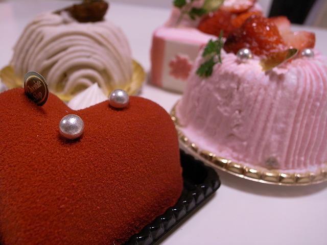 チョコレートショップのケーキ
