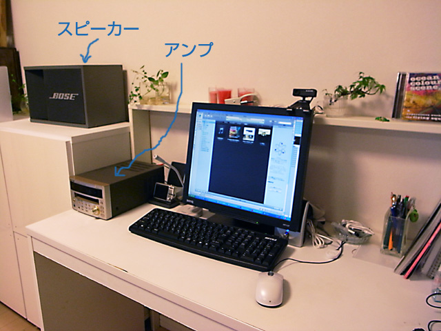 PCとスピーカー無事合体