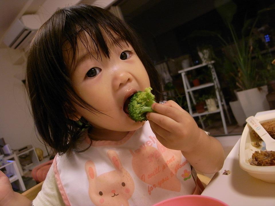 ブロッコリーが大好きな京那