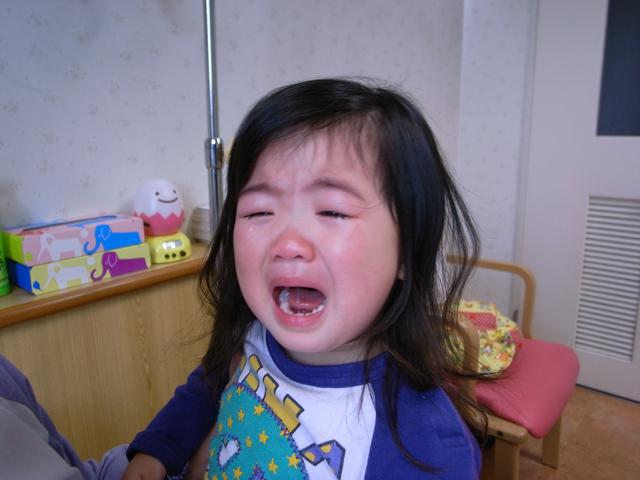 元気に泣く京那