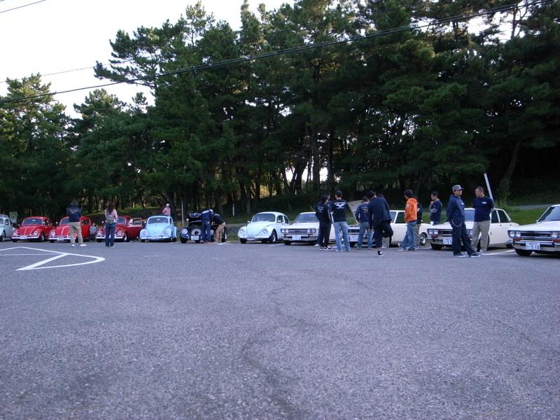 志賀島の駐車場にて