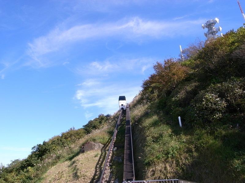 皿倉山のスロープカー